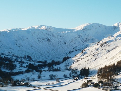 Looking towards Deepdale in the Snow